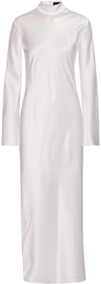 Michael Lo Sordo Gio Silk-satin Turtleneck Maxi Dress