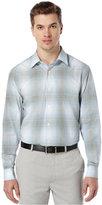 Perry Ellis Long-Sleeve Ombré Plaid Shirt