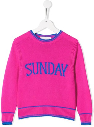 Alberta Ferretti Kids Sunday knitted sweater