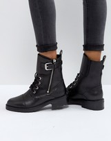 AllSaints Daria Biker Boot With Strap