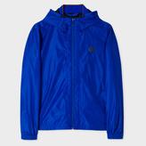 Paul Smith Men's Cobalt Blue Showerproof PS Logo Hooded Jacket