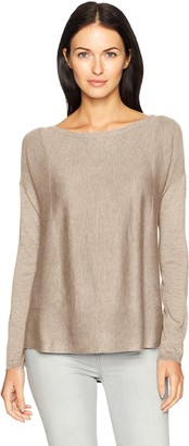 NYDJ Women's Boat Neck Sweater with Split Back