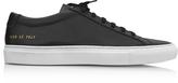 Common Projects Original Achilles Low Black Leather Men's Sneaker w/White Sole