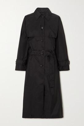 Prada Nylon Trench Coat - Black