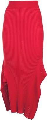 Stella McCartney Rib Knit Asymmetric Maxi Skirt