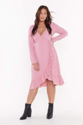 Nasty Gal Womens Get Rich Or Tie Tryin' Plus Wrap Dress - Pink - 16, Pink