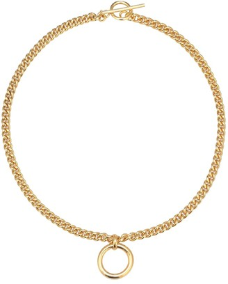 Tilly Sveaas Eternity Ring 18kt gold-plated necklace