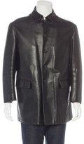 Jil Sander Leather Car Coat