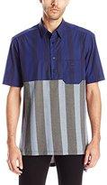 Vivienne Westwood Men's Hybrid Stretch Poplin Box Polo Shirt