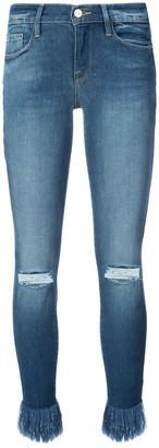 Frame Frayed Ankle Jeans