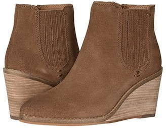 Frye Kaye Chelsea (Cognac Suede) Women's Boots