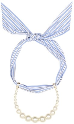 Miu Miu Faux-pearl scarf necklace