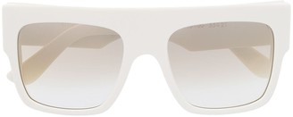 Emmanuelle Khanh Oversized Square Sunglasses