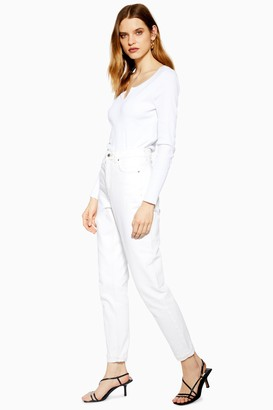 Topshop TALL Off White Mom Jeans