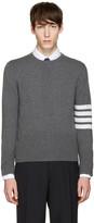 Thom Browne Grey Classic Crewneck Short Pullover