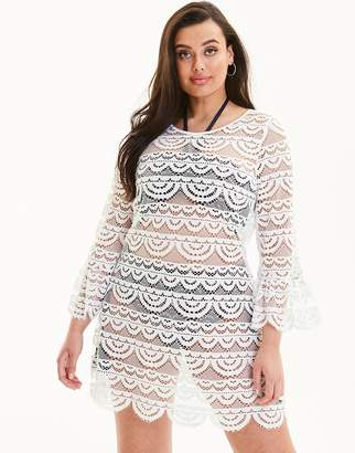 Figleaves Curve Mykonos Lace Low Back Cover Up