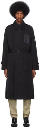 Random Identities Black Military Trench Coat