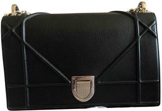 Christian Dior Diorama Black Leather Handbags