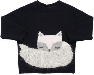 Il Gufo Fox Virgin Wool Jacquard Sweater