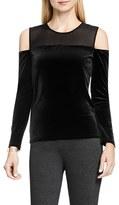 Vince Camuto Women's Cold Shoulder Velvet Top