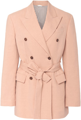 Brunello Cucinelli Belted Double-Breasted Jacket