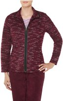 Alia Plus Size Space Dye Bouclé Jacket