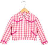 Moschino Girls' Gingham Printed Jacket