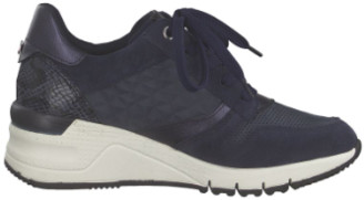 Tamaris Blue and Voilet Wedge Trainer Shoes - 36