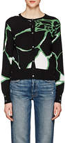 Thom Browne WOMEN'S FLORAL CASHMERE CARDIGAN