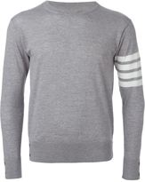 Thom Browne striped sleeve sweater - men - Wool - 1