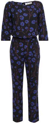 Diane von Furstenberg Gwynne Printed Crepe Wide-leg Jumpsuit