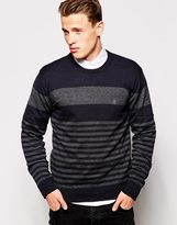French Connection Fine Stripe Jumper - Navy