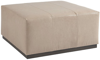 Barclay Butera Clayton Cocktail Ottoman - Sand Leather frame, brown; upholstery, sand
