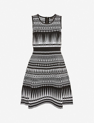 Ted Baker Gilleyy geometric-print knitted mini dress