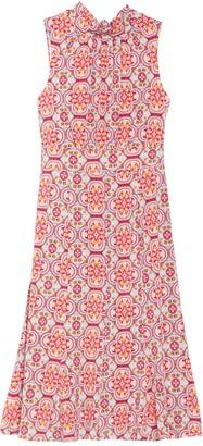 Donna Morgan Medallion Sleeveless Stretch Jersey Dress