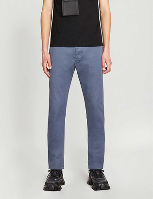 Prada Contrast-tape virgin wool-mohair blend trousers