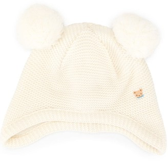 Familiar Double Pom Pom Hat