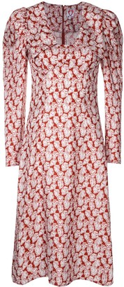 Shrimps All-Over Print Shirt Dress