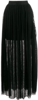 John Richmond Gallego long pleated skirt