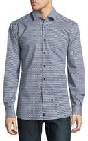 Strellson Slim Fit Geo Print Button-Down Shirt