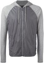 Michael Kors contrast-panel hooded sweatshirt - men - Nylon/Cotton - M