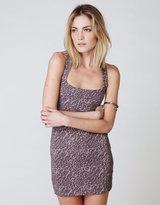Free People Animal Print Knit Dress