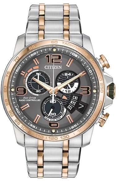 Citizen Men's Eco-Drive Chrono-Time A-T Two-Tone Bracelet Watch, 44mm