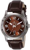 Titan Men's 'Neo' Quartz Metal and Leather Casual Watch, Color: (Model: 1730SL03)