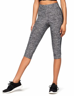 Aurique Amazon Brand Women's Side Stripe Capri Sports Leggings