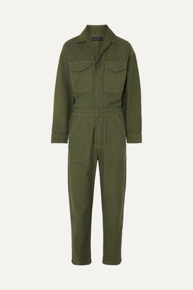 Citizens of Humanity Marta Cotton-canvas Jumpsuit - Army green