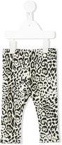 Roberto Cavalli leopard print leggings - kids - Cotton/Spandex/Elastane - 12 mth