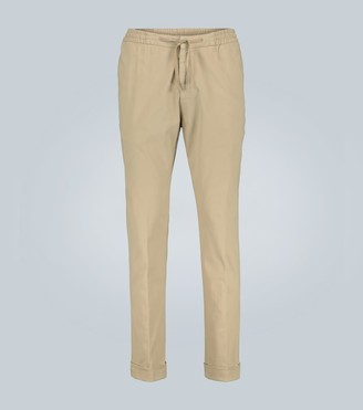 Officine Generale Phil brushed cotton-twill pants