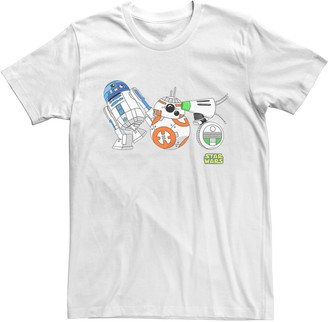 Star Wars Unbranded Men's The Rise of Skywalker Droid Party Graphic Tee