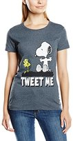 Peanuts Women's Tweet Me Short Sleeve T-Shirt,(Manufacturer Size:X-Large)